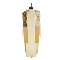 Copertina di 'Stola stile arazzo con Cristo Pantocratore'