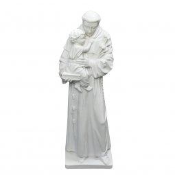"""Copertina di 'Statua in resina bianca """"Sant'Antonio di Padova"""" - altezza 40 cm'"""