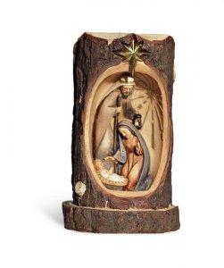 Copertina di 'Natavità in resina su tronco scavato - cm 14'
