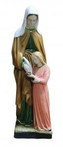 Copertina di 'Statua Sant'Anna resina dipinta a mano - 60 cm'