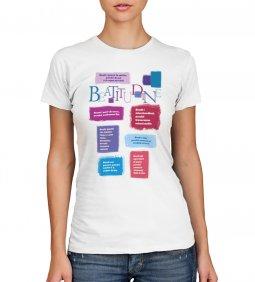 """Copertina di 'T-shirt """"Beatitudini evangeliche"""" - Taglia L - DONNA'"""