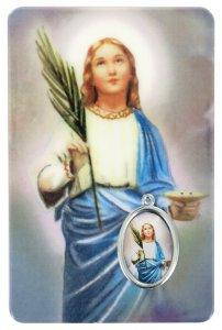 Copertina di 'Card Santa Lucia in PVC - 5,5 x 8,5 cm - spagnolo'