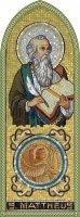 Quadro Evangelista San Matteo in legno a cuspide - 10 x 27 cm