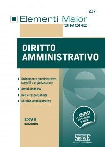 Copertina di 'Elementi Maior di Diritto Amministrativo'
