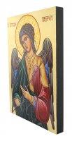 Immagine di 'Icona Arcangelo Gabriele dipinta a mano su legno con fondo orocm 19x26'