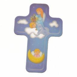 """Copertina di 'Magnete piatto a forma di croce """"Angelo custode"""" - altezza 6 cm'"""
