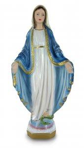 Copertina di 'Statua Madonna Miracolosa in gesso madreperlato dipinta a mano - 30 cm'