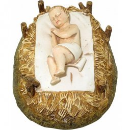 Copertina di 'Gesù Bambino con culla Linea Martino Landi - presepe da 120 cm'