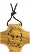 Croce ulivo con incisione - Giovanni Paolo II