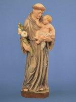 """Statua in legno colorato """"Sant'Antonio di Padova"""" - 15 cm"""