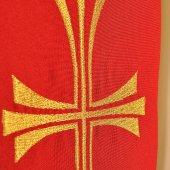 Immagine di 'Stola rossa con croce dorata stilizzata'
