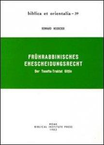 Copertina di 'Frührabbinisches Ehescheidungsrecht. Der Tosefta-Traktat Gittin'
