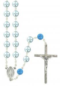 Copertina di 'Rosario Pater in imitazione di perla di vetro azzurro'