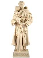"""Statua sacra in resina bianca con base """"Sant'Antonio di Padova"""" - altezza 21 cm"""