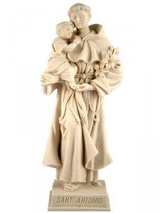 """Copertina di 'Statua sacra in resina bianca con base """"Sant'Antonio di Padova"""" - altezza 21 cm'"""