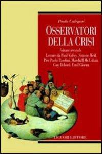 Copertina di 'Osservatori della crisi'