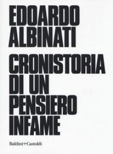 Copertina di 'Cronistoria di un pensiero infame'