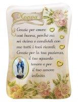 Calamita Nonna con immagine resinata della Madonna Miracolosa - 8 x 5,5 cm