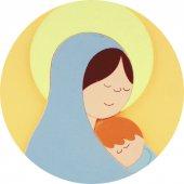 Immagine di 'Quadro Ave Maria in legno colore albicocca - 28 x 12 cm'