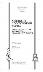 Copertina di 'Narratività e discernimento morale'