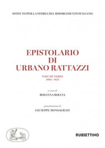 Copertina di 'Epistolario di Urbano Rattazzi'