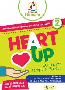 Copertina di 'Messalino Giovani Heart Up 2 -  Quaresima Tempo di Pasqua (17 febbraio-23 maggio 2021)'