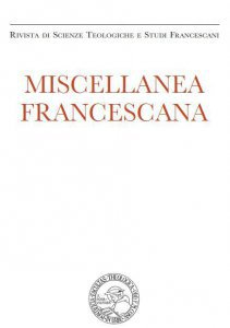 Miscellanea Francescana 2014 - n. III-IV