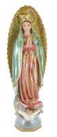 Statua Madonna di Guadalupe in gesso madreperlato dipinta a mano - 40 cm