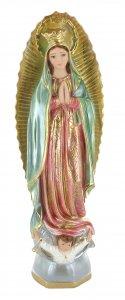 Copertina di 'Statua Madonna di Guadalupe in gesso madreperlato dipinta a mano - 40 cm'