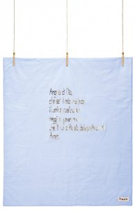 """Copertina di 'Plaid in cotone imbottito con """"Angelo di Dio"""" per bimbo - dimensioni 135x100 cm'"""