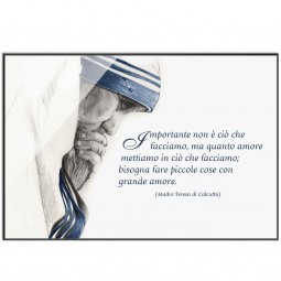 Copertina di 'Quadro Madre Teresa di Calcutta - Piccole cose con grande amore'