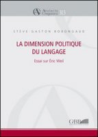 La dimension politique du language - Bobongaud Stève G.