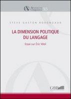 La dimension politique du language - Bobongaud Stève G.