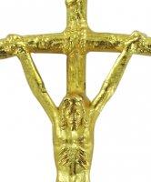 Immagine di 'Croce pastorale con Cristo riportato in metallo dorato - 3,8 cm'