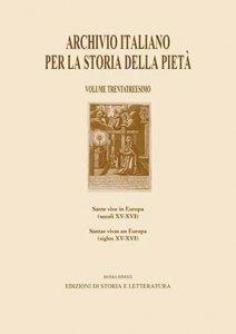 Copertina di 'Archivio italiano per la storia della pietà. Ediz. italiana e spagnola vol.33'
