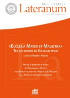 Insegnare l'ecclesiologia: questioni di metodo - Mario Florio