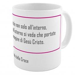 """Copertina di 'SpiriTazza """"L'immagine di Gesù Cristo"""" (San Paolo della Croce) - Bordo rosa'"""