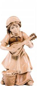 Copertina di 'Bimba con mandolino H.K. - Demetz - Deur - Statua in legno dipinta a mano. Altezza pari a 11 cm.'