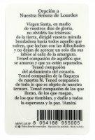 Immagine di 'Card Madonna di Lourdes in PVC - 5,5 x 8,5 cm - spagnolo'