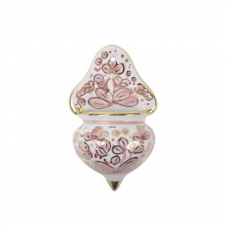 Copertina di 'Acquasantiera in ceramica cm 13 - Modello Arabesco celeste e oro'