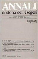 Annali di storia dell'esegesi. Atti del II seminario di studi su Lettura della Bibbia e pensiero filosofico e politico moderno. Forlì 7-9 giugno 1991