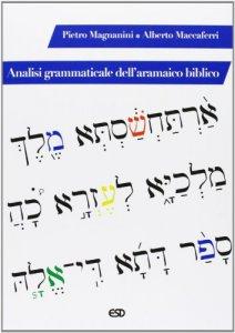 Copertina di 'Analisi grammaticale dell'aramaico biblico'