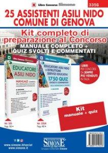 Copertina di 'Kit completo di preparazione al concorso 25 Assistenti Asili nido Comune di Genova: Manuale completo-Quiz svolti e commentati. Con software di simulazione'