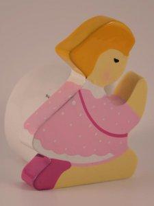 Copertina di 'Sostegno colorato per preghiere bambina rosa'