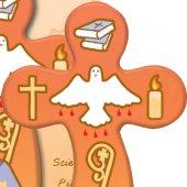 Immagine di 'Bomboniera cresima bambino/bambina: croce con preghiera in italiano (B)'