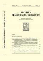 A proposito dell'edizione di Warren Lews della Lectura super Apocalipsim di Pietro di Giovanni di Olivi. Alcune osservazioni  (99-161) - Alberto Forni - Paolo Vian