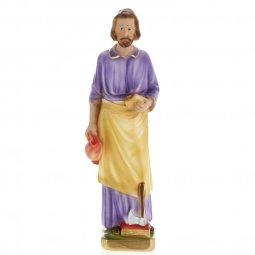 Copertina di 'Statua in gesso madreperlato San Giuseppe Lavoratore dipinta a mano - cm 30'