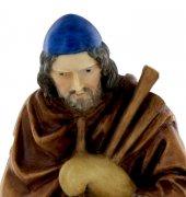 Immagine di 'Statue presepe: Pastore con zampogna linea Martino Landi per presepe da cm 120'