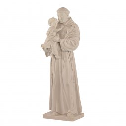 "Copertina di 'Statua sacra in resina bianca ""Sant'Antonio di Padova"" - altezza 50 cm'"