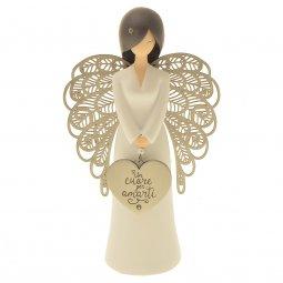 """Copertina di 'Statua in resina angelo """"Per amarti"""" - 15 cm'"""